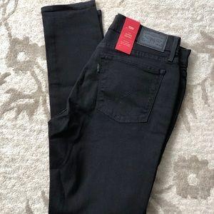 Levi's 710 Super Skinny Black Jeans 12 Short